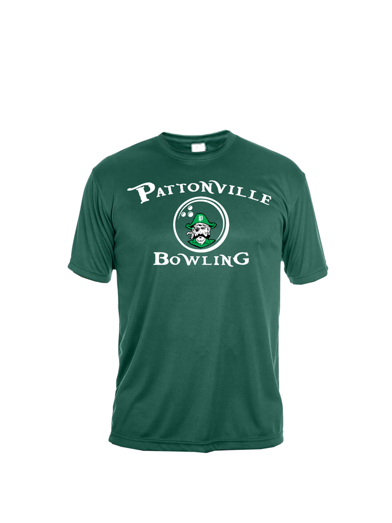 Pattonville Bowling Performance T-Shirt (Green or Black)