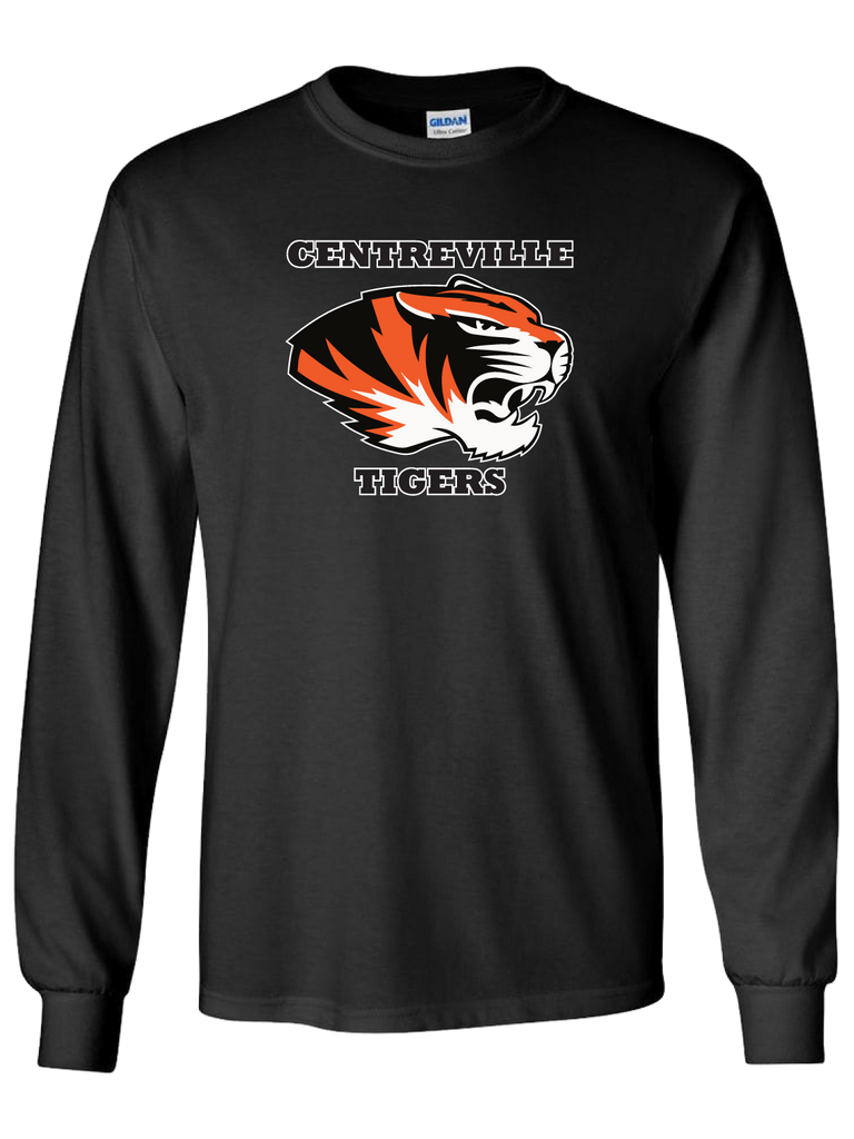 Centreville Tigers Long Sleeve T-Shirt (Black or Orange)