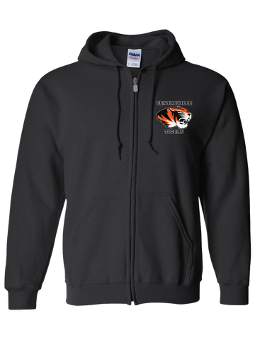 Centreville Tigers Zip Hoodie (Black or Safety Orange)