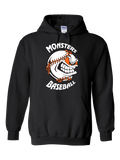 Monster's Baseball Hoodie (Black or Orange)