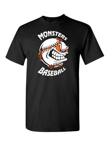 Monster's Baseball T-Shirt (Black or Orange)