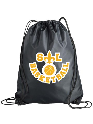 Saint Louis Saints Basketball Cinch Bag (Black or Red)