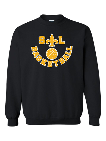 Saint Louis Saints Basketball Crewneck Sweatshirt (Black or Red)