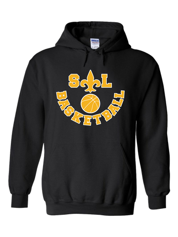 Saint Louis Saints Basketball Hoodie (Black or Red)