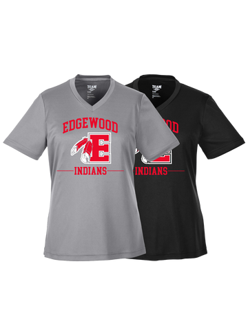 Edgewood Ladies Dry Weave V-Neck T-Shirt