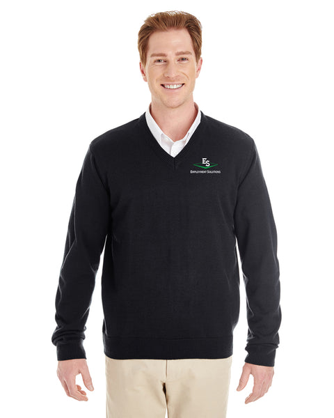 Men's Long-Sleeve V-Neck Sweater