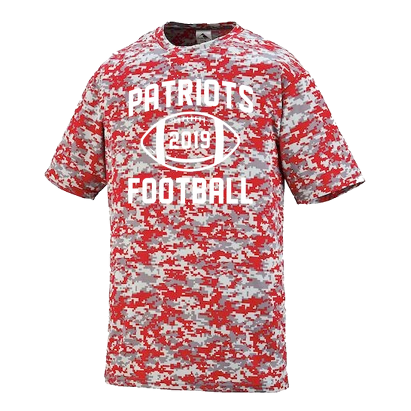 Patriots Football Performance Digital Camo T-Shirt
