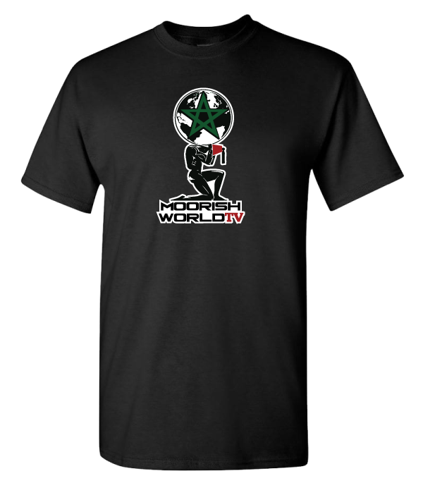 Moorish World TV Black T-Shirt