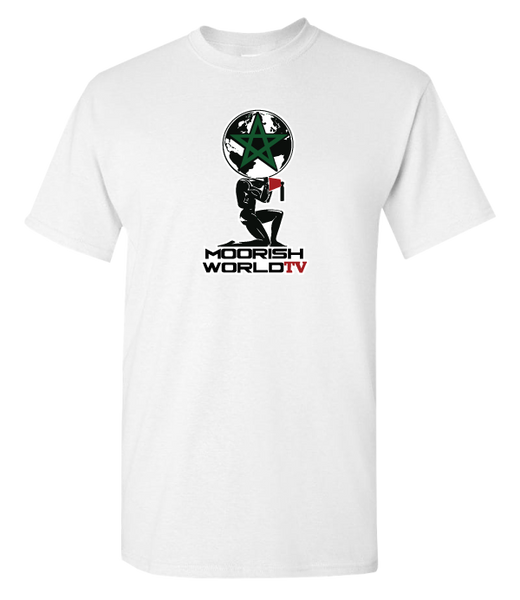 Moorish World TV White T-Shirt