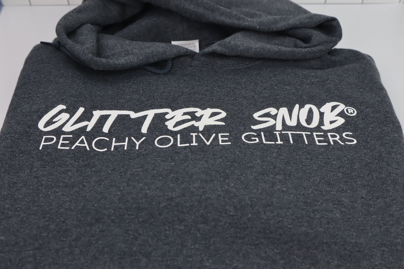 GLITTER SNOB Hoodie (Dark Heathered Gray)
