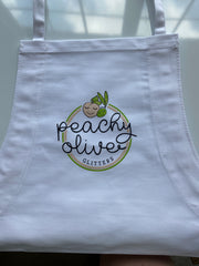 Peachy Olive Glitters Apron