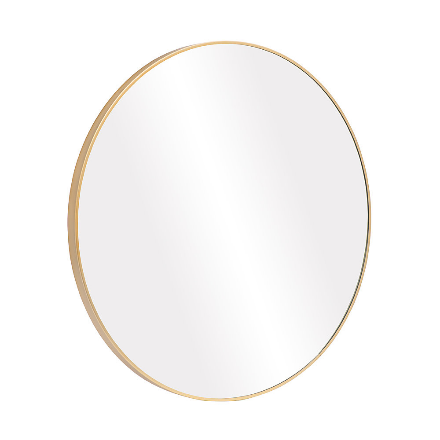 Manhattan Round Gold Mirror