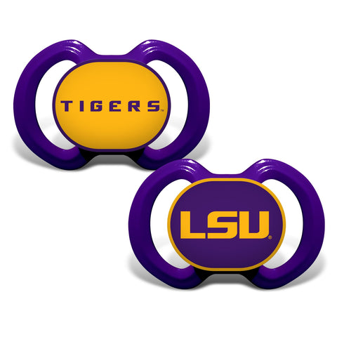 LSU Tigers Pacifier 2 Pack