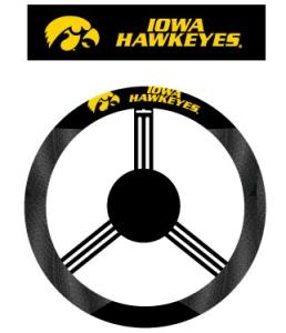 Iowa Hawkeyes Steering Wheel Cover - Mesh