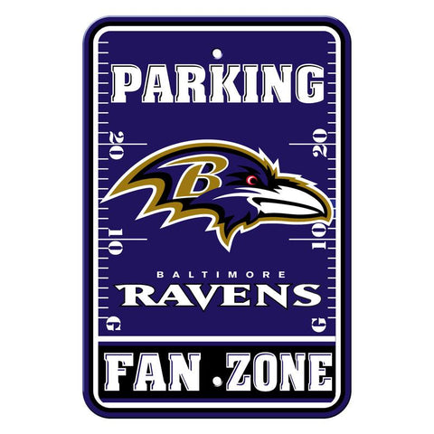 Baltimore Ravens Sign - Plastic - Fan Zone Parking - 12 in x 18 in