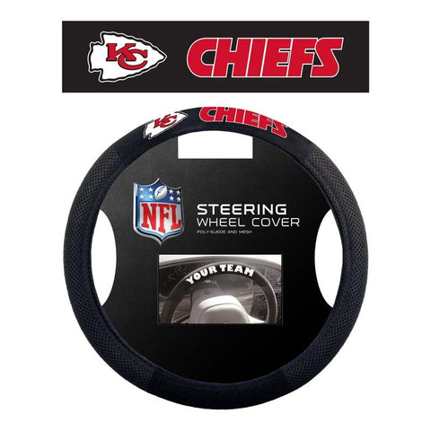 Kansas City Chiefs Steering Wheel Cover - Mesh