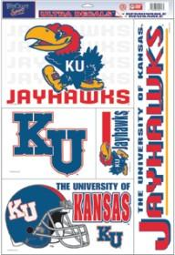 Kansas Jayhawks Decal 11x17 Ultra