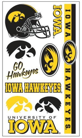 Iowa Hawkeyes Temporary Tattoos