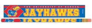 Kansas Jayhawks Pencil 6 Pack