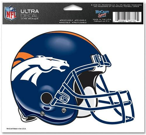 Denver Broncos Decal 5x6 Ultra Color