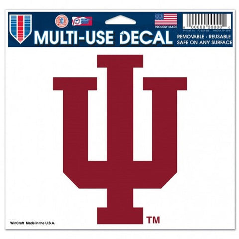 Indiana Hoosiers Decal 5x6 Ultra Color