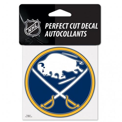 Buffalo Sabres Decal 4x4 Perfect Cut Color