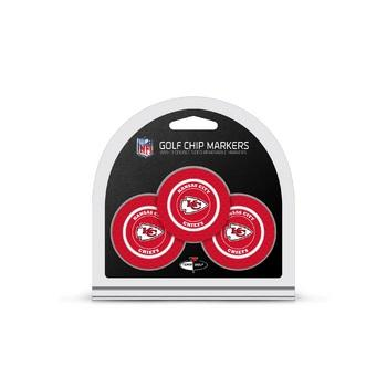 Kansas City Chiefs Golf Chip with Marker 3 Pack