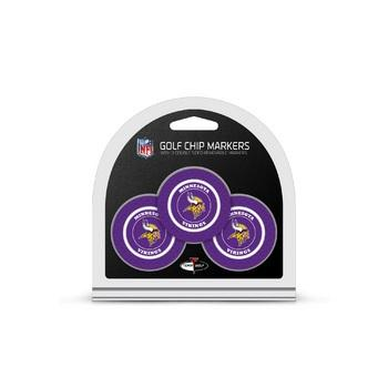 Minnesota Vikings Golf Chip with Marker 3 Pack
