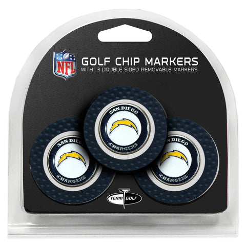 Los Angeles Chargers Golf Chip with Marker 3 Pack