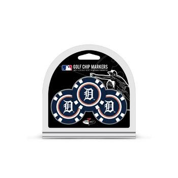 Detroit Tigers Golf Chip with Marker 3 Pack