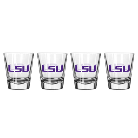 LSU Tigers Shot Glass - 2 Pack Clear