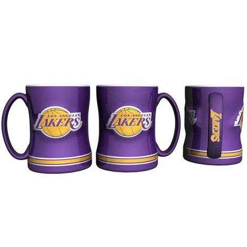 Los Angeles Lakers Coffee Mug - 14oz Sculpted Relief