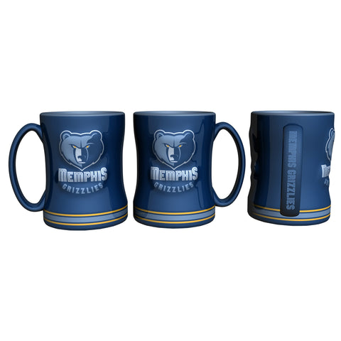 Memphis Grizzlies Coffee Mug 14oz Sculpted Relief Special Order