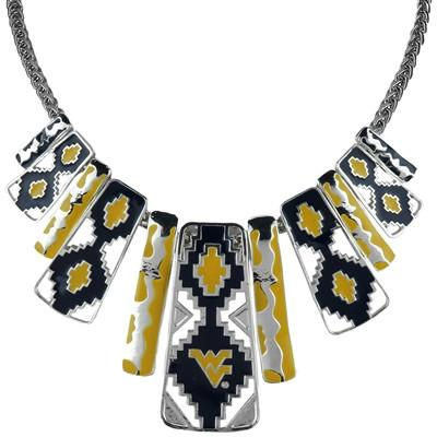 West Virginia Mountaineers- Aztec Print Necklace