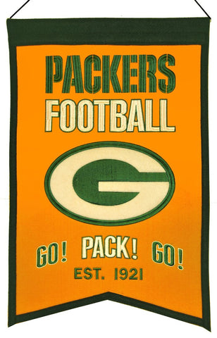 Green Bay Packers Banner Wool Franchise