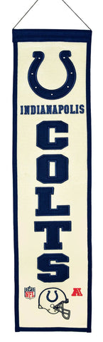"Indianapolis Colts Wool Heritage Banner - 8""x32"""