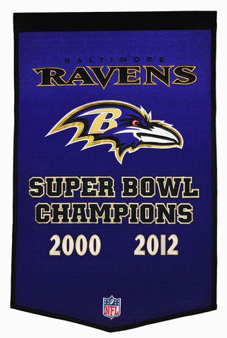 Baltimore Ravens Banner 24x36 Wool Dynasty