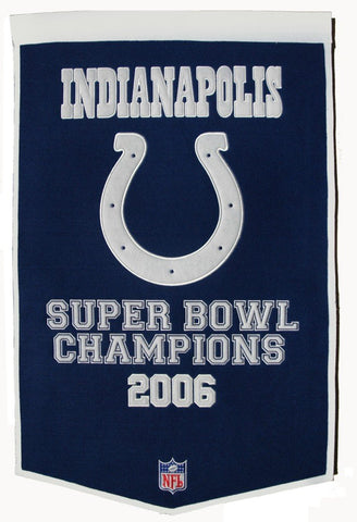Indianapolis Colts Banner 24x36 Wool Dynasty