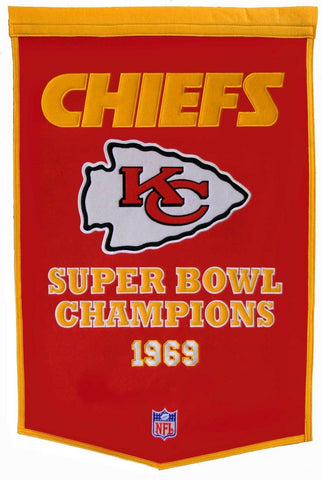 Kansas City Chiefs Banner 24x36 Wool Dynasty