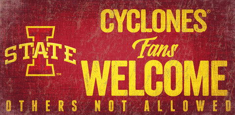 Iowa State Cyclones Wood Sign