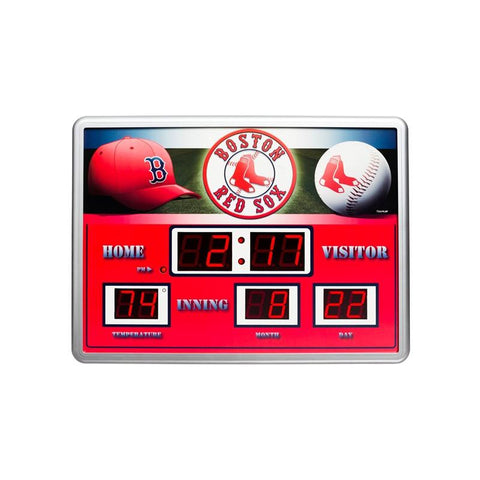 Boston Red Sox Clock 14x19 Scoreboard