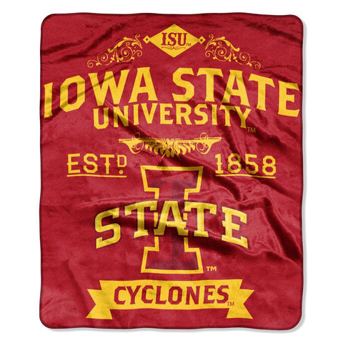 Iowa State Cyclones Blanket 50x60 Raschel Label Design