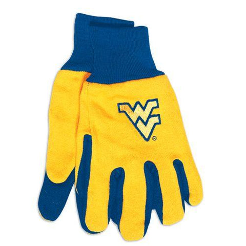 West Virginia Mountaineers Two Tone Gloves - Adult