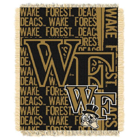 "Wake Forest Demon Deacons NCAA Double Play 46""x 60"" Triple Woven Jacquard Throw"