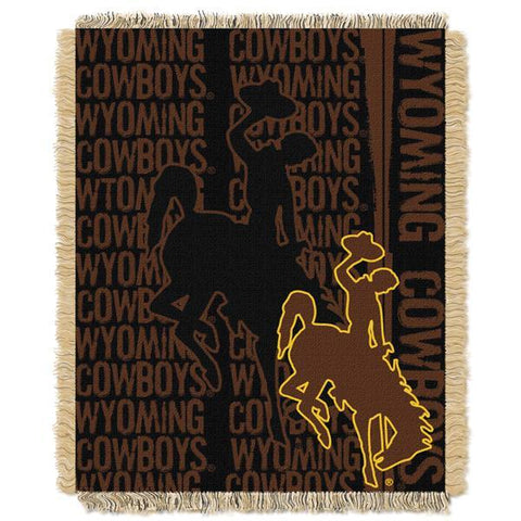 "Wyoming Cowboys NCAA Double Play 46""x 60"" Triple Woven Jacquard Throw"