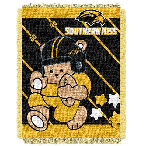 "Southern Mississippi Eagles NCAA Half Court Baby 36""x 46"" Triple Woven Jacquard Throw"