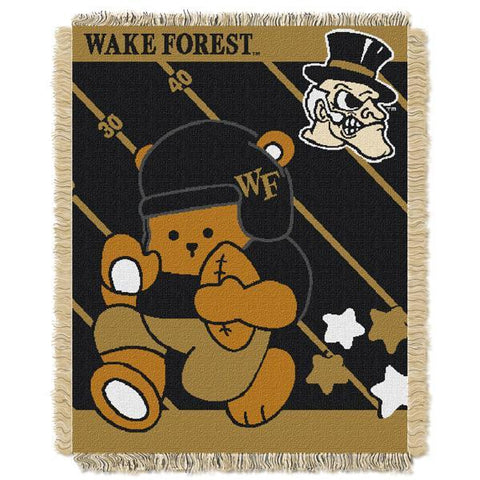 "Wake Forest Demon Deacons NCAA Half Court Baby 36""x 46"" Triple Woven Jacquard Throw"