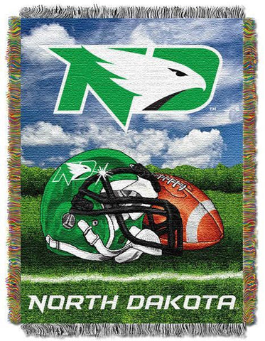 "North Dakota Fighting Sioux NCAA Home Field Advantage 48""x 60"" Woven Tapestry Throw"