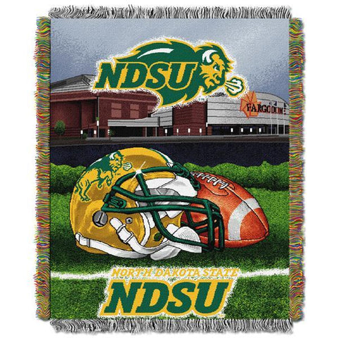 "North Dakota State NCAA Home Field Advantage 48""x 60"" Woven Tapestry Throw"