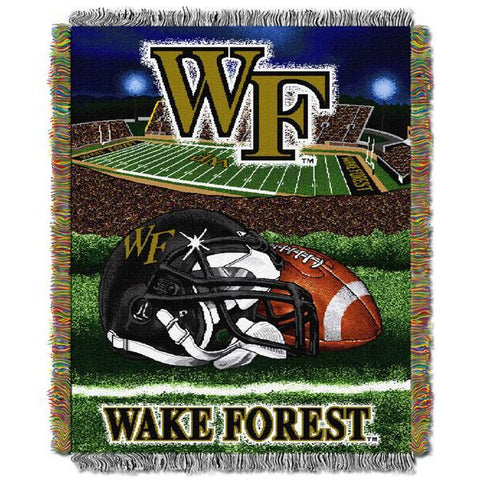 "Wake Forest Demon Deacons NCAA Home Field Advantage 48""x 60"" Woven Tapestry Throw"